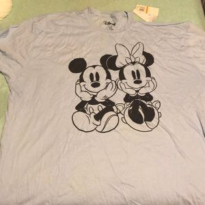 Mickey and Mini single cold shoulder shirt